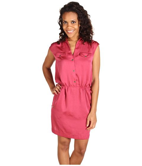 Rochii Anne Klein - Washed Satin Shirt Dress - Blush