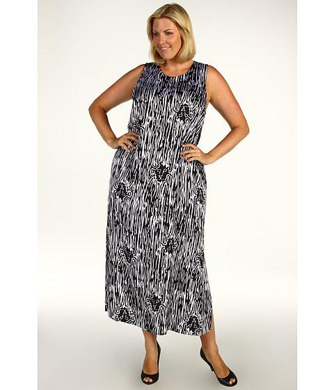Rochii Anne Klein - Plus Size Jungle Fever Maxi Dress - Black/White