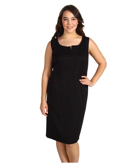 Rochii Anne Klein - Plus Size Sleeveless Shift Dress - AK Black