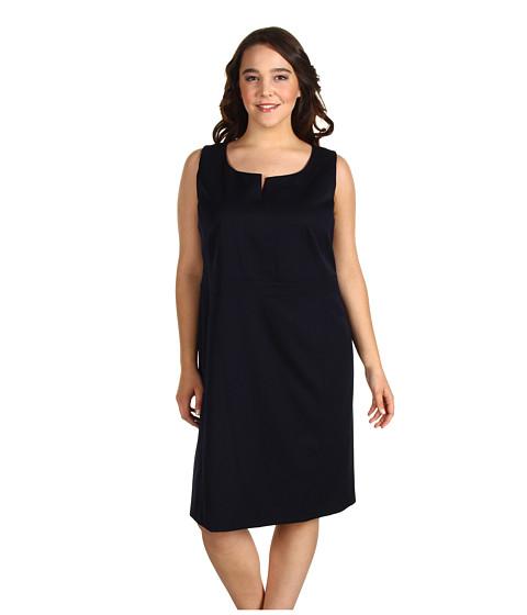 Rochii Anne Klein New York - Plus Size Sleeveless Shift Dress - Midnight Sky