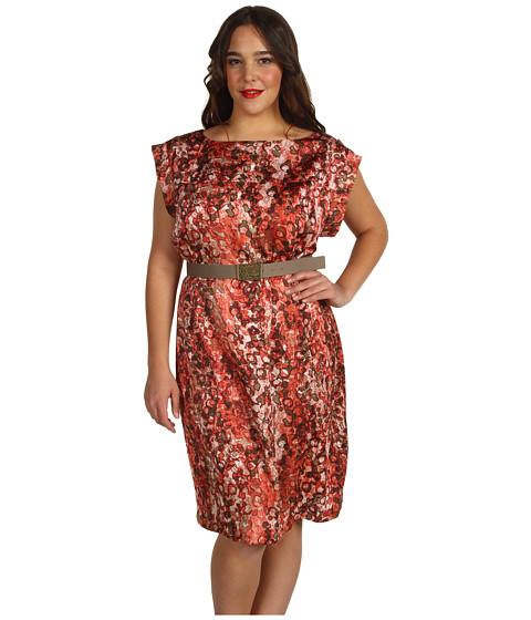 Rochii Anne Klein - Plus Size Watermark Printed Dress - Multi