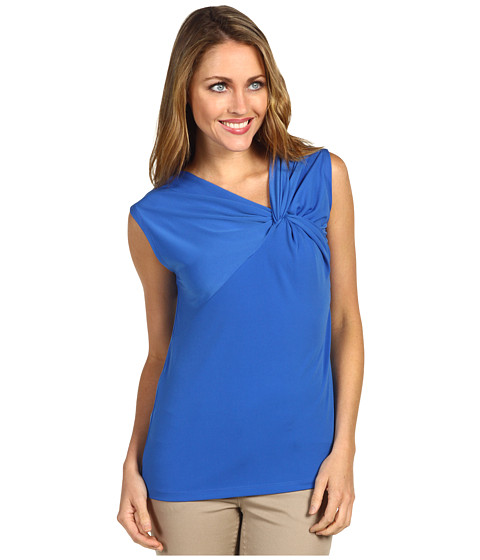 Tricouri Anne Klein - Twist Neck Pullover - Azul