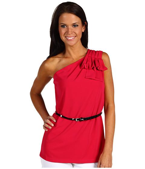 Bluze Anne Klein - One Shoulder Tank w/ Bow Pleats - Rouge