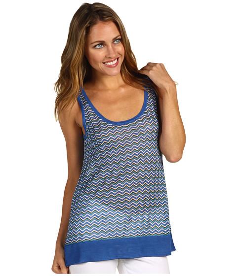 Bluze Anne Klein - Zig-Zag Tank - Azul Multi