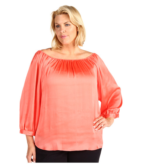 Bluze Anne Klein - Plus Size Off Shoulder Blouse - Papaya