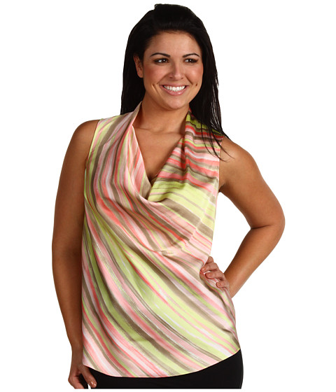 Bluze Anne Klein - Plus Size Striped Drape Neck Sleeveless Blouse - Multi