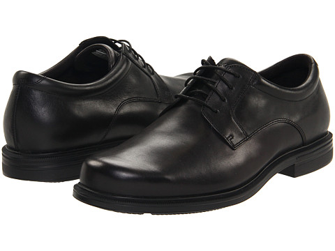 Pantofi Rockport - Editorial Office - Plaintoe - Black Leather