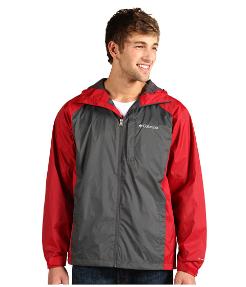 Jachete Columbia - Straight Line⢠Rain Jacket - Grill/Red Velvet