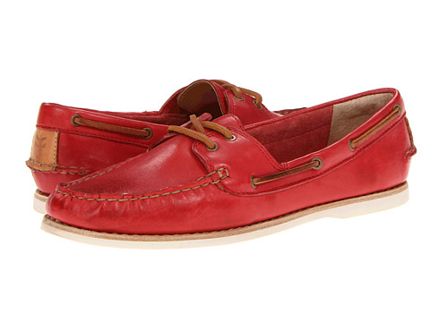Balerini Frye - Quincy Boat Shoe - Burnt Red Soft Full Grain