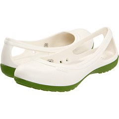 Kilipiruri Crocs Duet Flat Oyster/Parrot Green | mycloset.ro