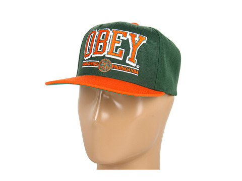 Sepci Obey - Obey Athletics Snapback - Green/Orange