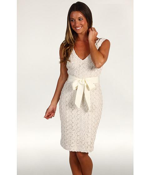 Rochii Badgley Mischka - Cocktail Dress W/Belt - Ivory