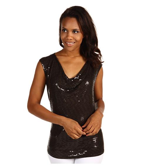 Bluze Michael Kors - Cap Sleeve Sequin Drape Top - Bark