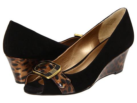Pantofi Circa Joan & David - Shayna - Black/Brown Suede