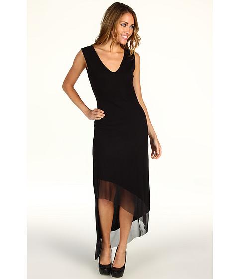 Rochii BCBGMAXAZRIA - Alisanne Asymmetrical Mesh Trim Dress - Black