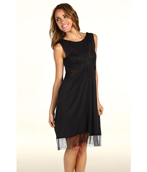 Rochii BCBGMAXAZRIA - Minette Lace Detail Dress - Black