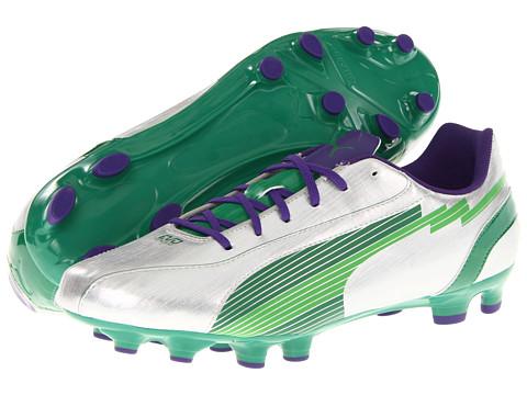 Adidasi PUMA - evoSPEED 5 FG - Puma Silver/Team Green/Team Violet
