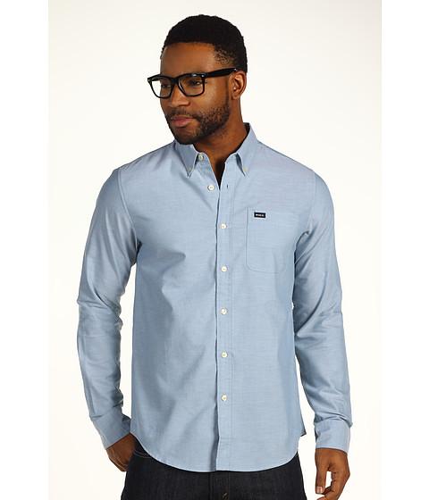 Tricouri RVCA - That\ll Do Oxford L/S Shirt - Agean Blue
