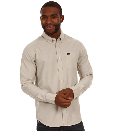 Tricouri RVCA - That\ll Do Oxford L/S Shirt - Khaki