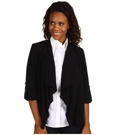 Sacouri Calvin Klein - Roll Sleeve Flyaway Jacket - Black