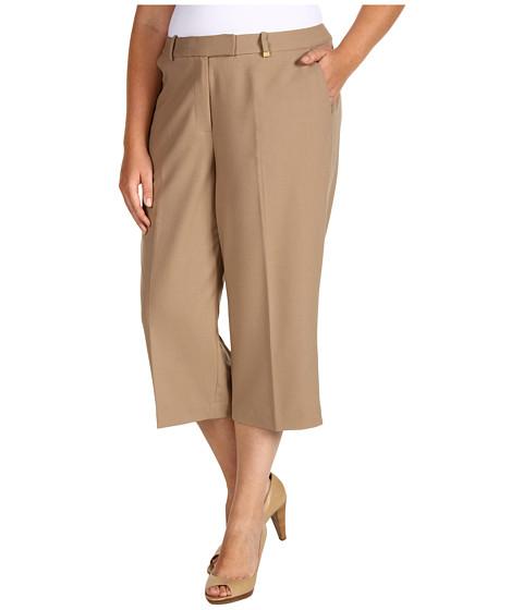 Pantaloni Calvin Klein - Plus Size Cropped Pant - Flax