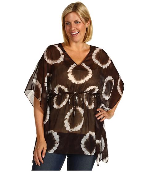 Tricouri Michael Kors - Plus Size Mission Tie Dye Kimono Top - Java
