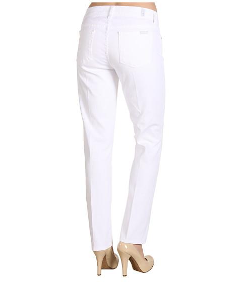Blugi 7 For All Mankind - Slim Straight in Clean White - Clean White