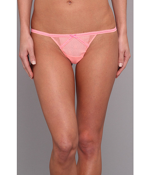 Lenjerie Betsey Johnson - Daisy Mesh Thong 722317 - Coral