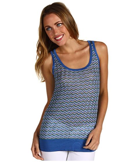 Bluze Anne Klein New York - Petite Zig-Zag Tank - Azul Multi