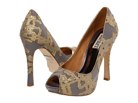 Pantofi Badgley Mischka - Roxie - Grey/Gold
