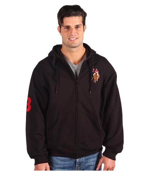 Bluze U.S. Polo Assn - Full Zip L/S Hoodie Fleece - Black