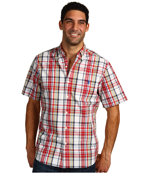 Camasi U.S. Polo Assn - Slim Fit S/S Poplin Shirt - Red