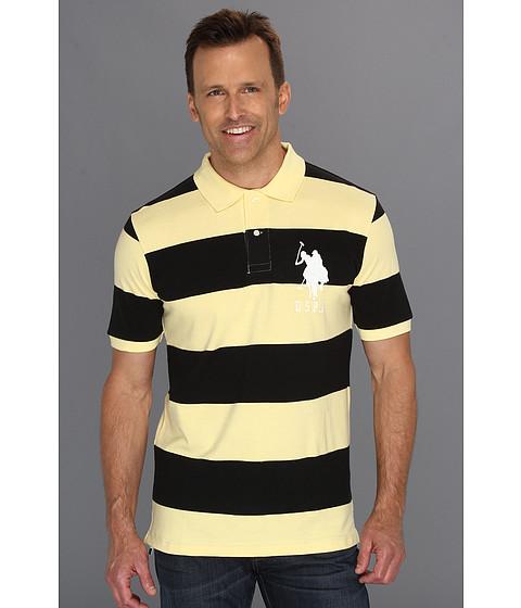 Tricouri U.S. Polo Assn - 2 Color Wide Stripe Polo - Lemon/ Black