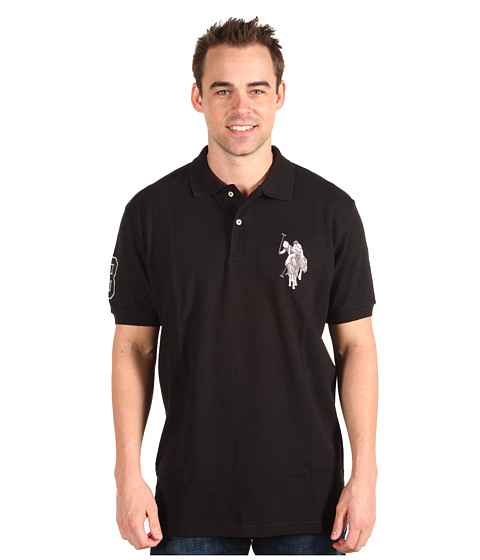 Tricouri U.S. Polo Assn - New Solid w/ Tonal Emb. - Black
