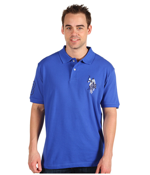 Tricouri U.S. Polo Assn - New Solid w/ Tonal Emb. - Rivera Blue