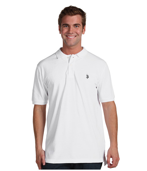 Tricouri U.S. Polo Assn - Pony Solid Pique - White