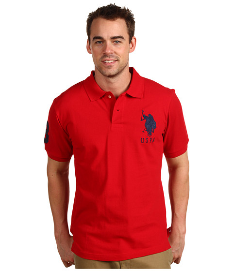 Tricouri U.S. Polo Assn - Solid Polo with Big Pony - Red/Navy PP