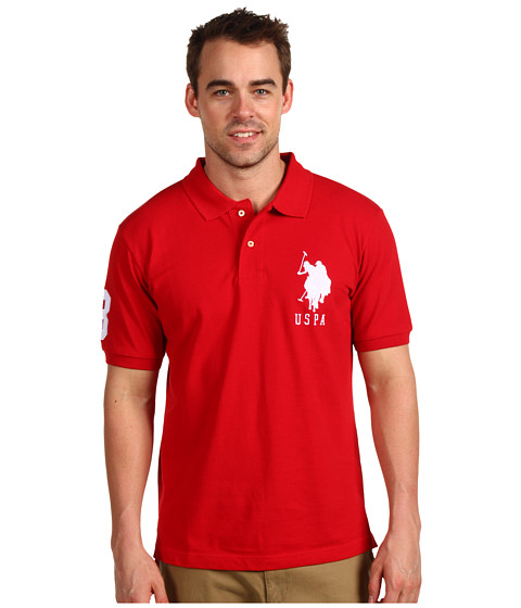 Tricouri U.S. Polo Assn - Solid Polo with Big Pony - Red/White PP
