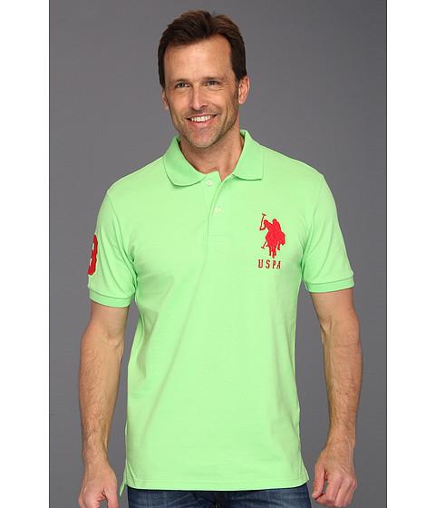 Tricouri U.S. Polo Assn - Solid Polo with Big Pony - Mint Leaf