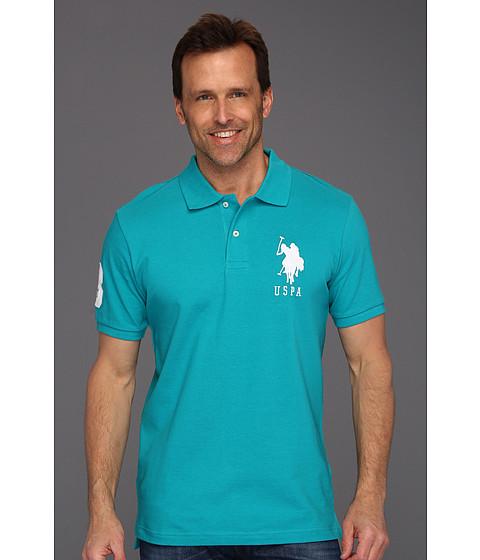 Tricouri U.S. Polo Assn - Solid Polo with Big Pony - Teal Green