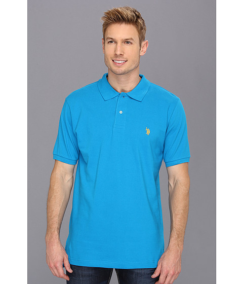 Tricouri U.S. Polo Assn - Solid Polo with Big Pony - Teal Blue 1