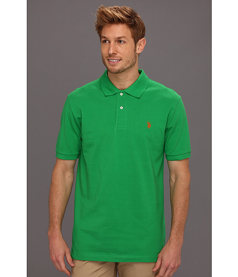 Tricouri U.S. Polo Assn - Solid Polo with Small Pony - Cactus Flower/Orange Popsicle