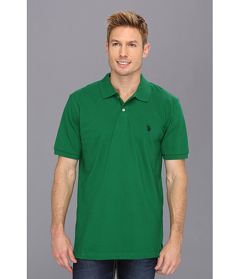 Tricouri U.S. Polo Assn - Solid Polo with Small Pony - Kelly Green/Navy