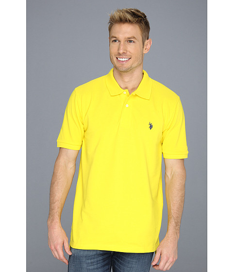 Tricouri U.S. Polo Assn - Solid Polo with Small Pony - Cyber Yellow