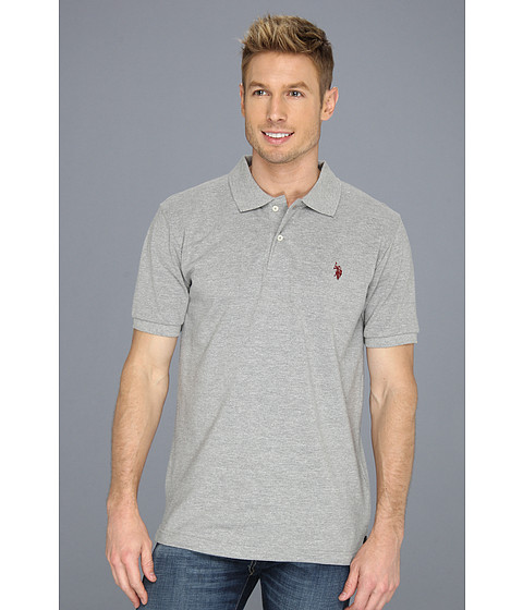 Tricouri U.S. Polo Assn - Solid Polo with Small Pony - Medium Heather Grey