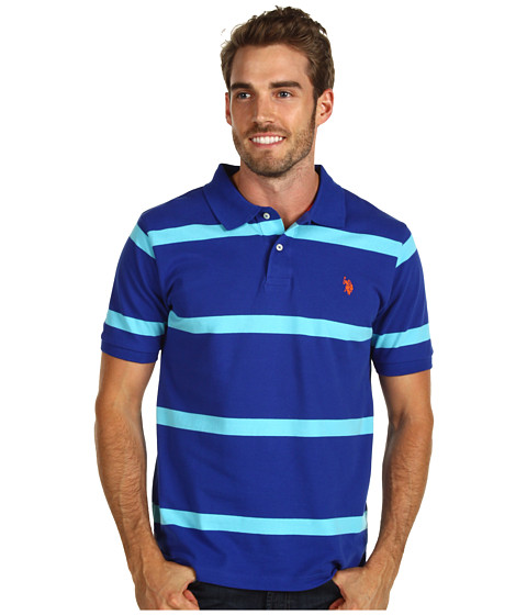 Tricouri U.S. Polo Assn - Striped Polo - Cobalt Blue