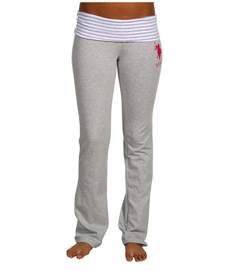 Pantaloni U.S. Polo Assn - Big Pony Fold Over Yoga Pant - Heather Grey