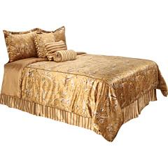 Lenjerii Pat Highbury Royal Botanical - 7pc Bed Set - Queen Gold | mycloset.ro