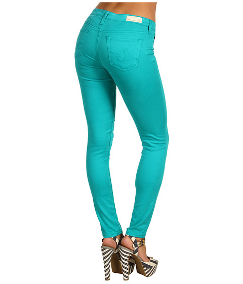Blugi AG Adriano Goldschmied - The Legging Ankle Stretch Sateen in Turquoise - Turquoise