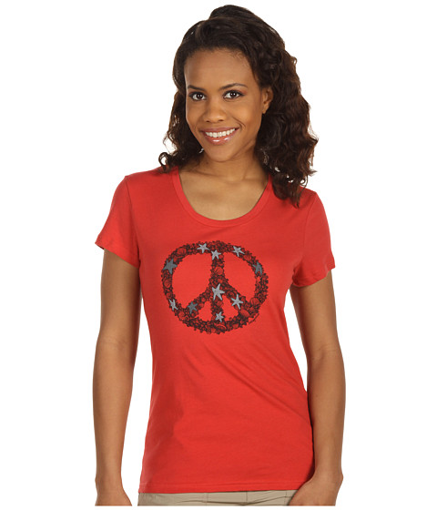 Tricouri Patagonia - Peace Sign T-Shirt - Poppy Fields